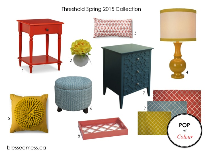 Threshold Spring 2015 Pop of Colour