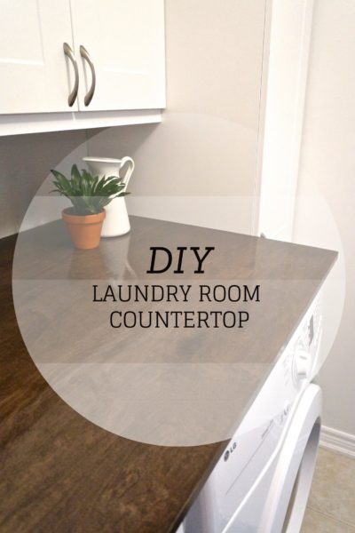 Our DIY Laundry Room Countertop