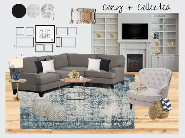 Cozy + Collected Living Room