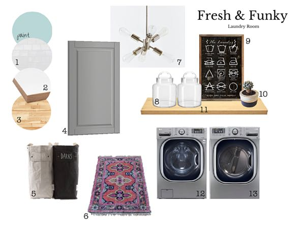 Fresh and Funky Laundry Room