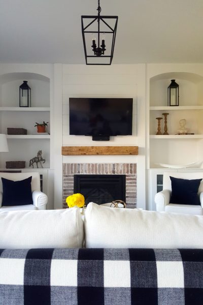 Check Out Our Shiplap Inspired Fireplace Facelift Reveal!
