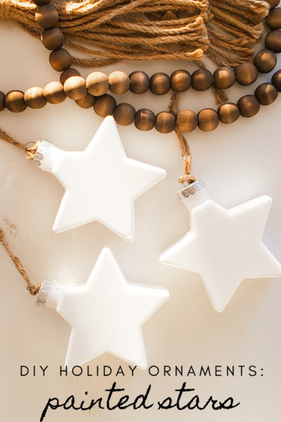 DIY Ornament: Painted Stars (No Brush Required)